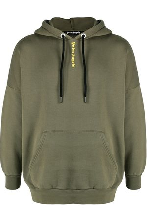 Palm Angels Men Sweatshirts - NS LOGO OVER HOODY MILITARY YELLOW