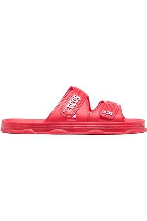 GCDS Men Sandals - Logo print touch-strap sliders