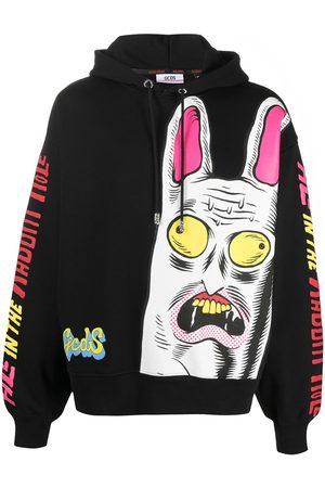GCDS Logo-print drawstring hoodie