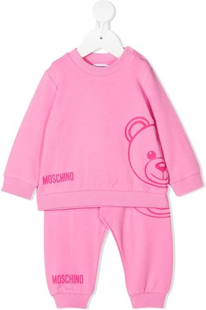 Moschino Girls Tracksuits - Logo print tracksuit set