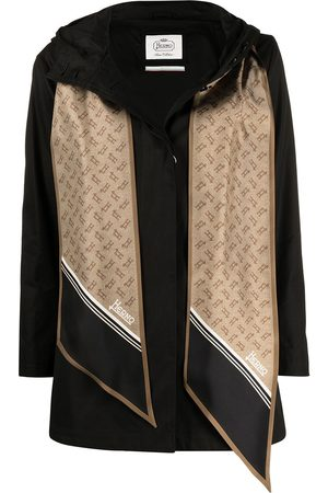 HERNO Women Coats - Scarf-detail hooded coat