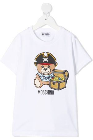 Moschino Boys Short Sleeve - Teddy bear-print T-Shirt