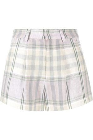 Isabel Marant Women Shorts - Checked linen shorts