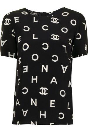 CHANEL Women Short Sleeve - 1997 logo printed T-shirt