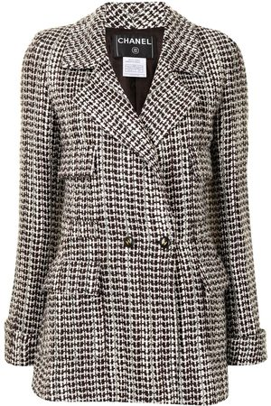 CHANEL 2001 patterned woven jacket