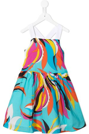 Emilio Pucci Girls Casual Dresses - Abstract print cotton dress