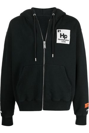 Heron Preston Men Sweatshirts - HOODIE ZIP UP HERONS HALO BLUE