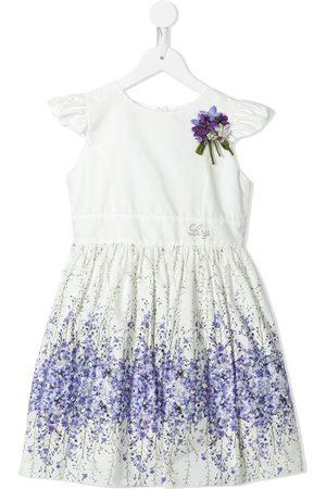 Lesy Floral-print logo-detail dress
