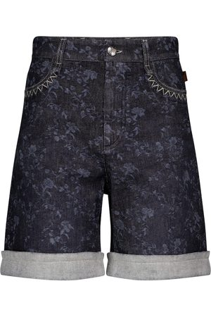 Chloé High-rise denim Bermuda shorts