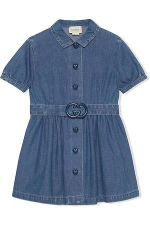 Gucci Girls Casual Dresses - Interlocking G short denim dress