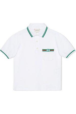 Gucci Boys Polo Shirts - Web and Interlocking G polo shirt