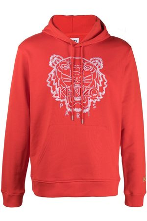 Kenzo Tiger-embroidered drawstring hoodie