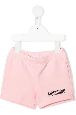 Moschino Baby Shorts - Logo-embellished jersey shorts