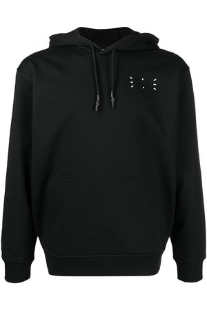 mcq swallow Signature stitch drawstring hoodie