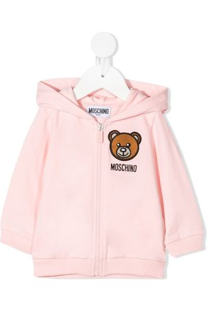 Moschino Baby Hoodies - Teddy Bear zipped hoodie