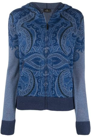Etro Women Jumpers - Paisley print cashmere hoodie