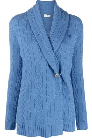 Etro Women Cardigans - Off-centre buttoned cashmere cardigan