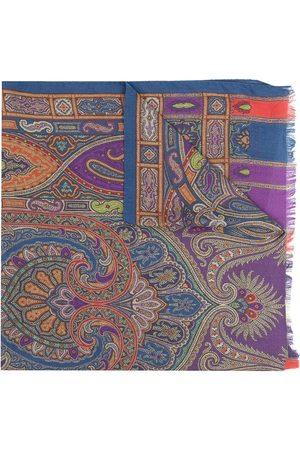 Etro Paisley frayed scarf
