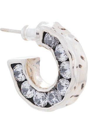 E.M. Crystal embellished hoop earring