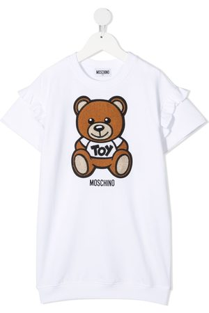 Moschino Girls Printed Dresses - Teddy-print T-shirt dress