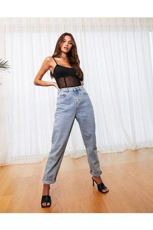 ASOS High rise 'original' mom jeans in lightwash