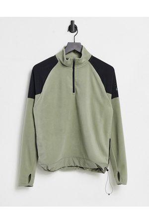 Nike Air half zip mid layer in khaki