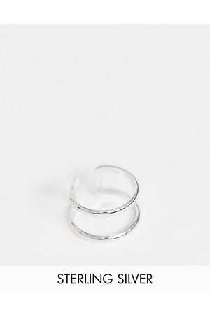 ASOS Sterling ring with double band design in