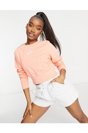 Nike Women Sweatshirts - Air cropped fleece sweatshirt in peach