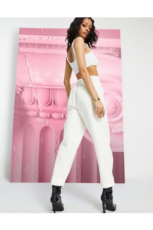 ASOS High rise 'original' mom jeans in off