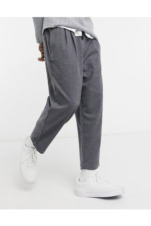 ASOS Wide pleated trousers in