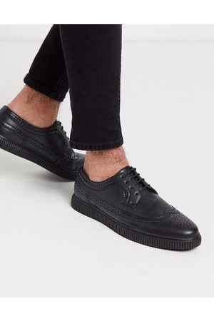 ASOS Vegan creeper brogue shoes in faux leather