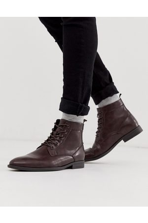 ASOS Vegan lace up boots in faux leather