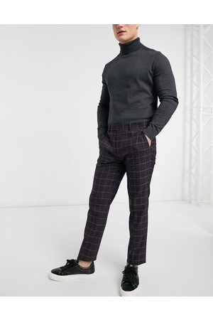 River Island Skinny suit trousers in check