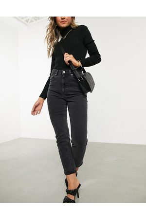 ASOS High rise farleigh 'slim' mom jeans in washed