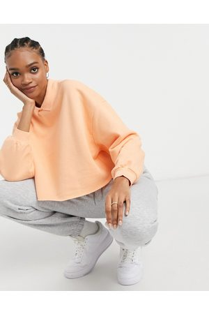 ASOS Cropped sweat with collar detail