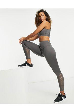 HIIT Women Leggings - Star lace panel leggings in