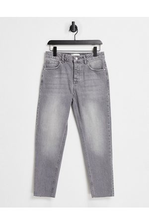 ASOS Classic rigid jeans in washed with raw hem