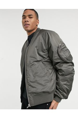 ASOS Oversized bomber jacket with rouche detail in
