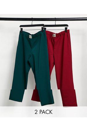 ASOS 2 pack lounge pyjama bottoms