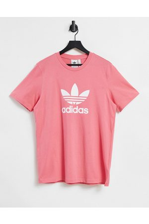 adidas Adicolor t-shirt in rose with large logo