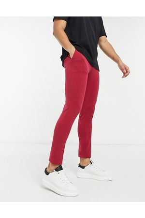 ASOS Extreme super skinny smart trouser in burgundy