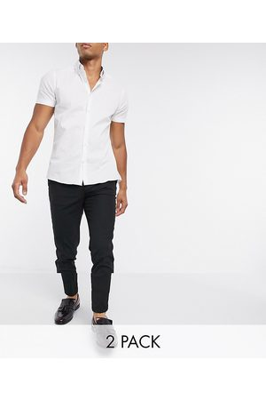 ASOS 2 pack skinny trousers in SAVE