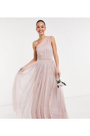 Anaya Tall Anaya With Love Tall Bridesmaid tulle one shoulder maxi dress in