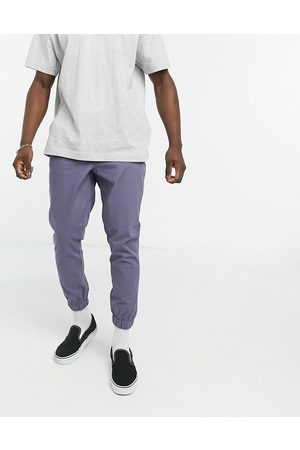 ASOS Tapered chino joggers in blue
