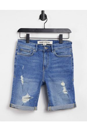 New Look Skinny denim shorts with rips in
