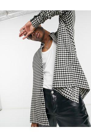 ASOS Super oversized check shirt in gingham