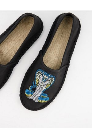 ASOS Espadrille in with snake embroidery