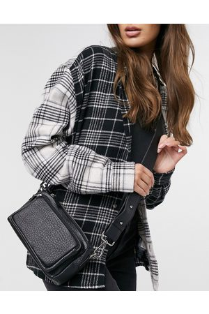 ASOS Leather camera bag with front pocket in