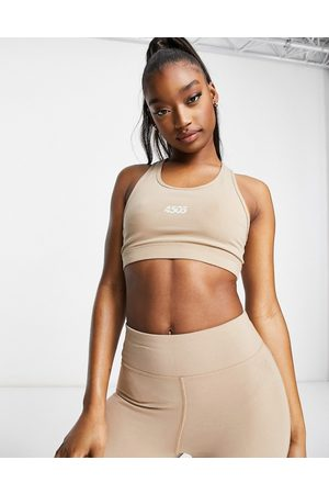 ASOS Icon scoop neck sports bra in cotton touch