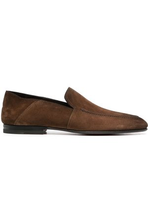 santoni Men Loafers - Suede leather loafers